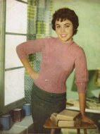 Lacy patterned jumper from the 1950's