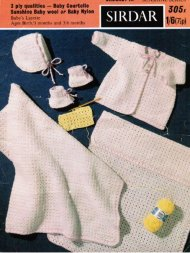 Baby crochet first layette and blanket