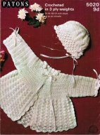 Lovely crochet baby cardigan & hat