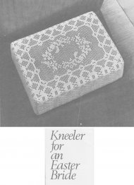 Beautiful crochet kneeler cover