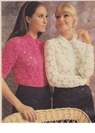 Gorgeous crochet blouses from 1969