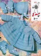Sweet baby matinee coat & bonnet set