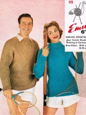 Ribbed chunky raglan jumpers for him and her