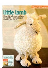 Adorable toy lamb for Christmas or Easter
