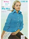 "Ribbed ""mod"" style chunky cardigan with huge collar!"