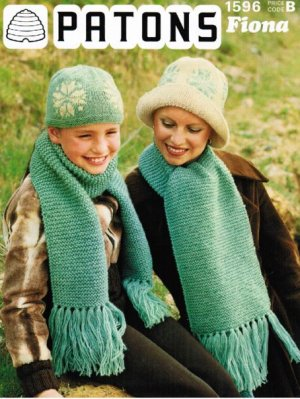 Lovely snowflake patterned hats & easy scarves