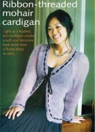Easy mohair cardigan with ribbon tie