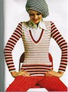Brilliant slim fitting 60's jumper