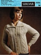 Classic cable knit raglan cardigan with collar