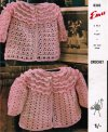 2 pretty frilled baby matinee coats in different stitches