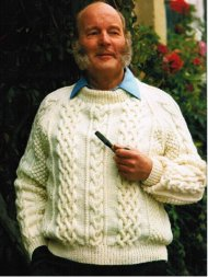 Men's traditional aran jumper