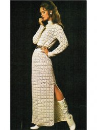 Groovy 1970's crochet maxi dress