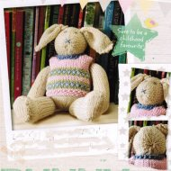Soft bunny rabbit with fair isle tank top!