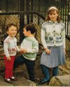 Children's reindeer motif patterned jumper or cardigan
