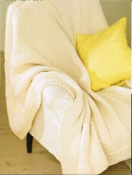 Simple cosy panelled throw / blanket