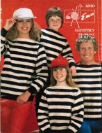 Family Breton style stripe Guernsey jumpers