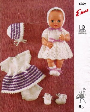 "Two baby doll dress outfits for 12"" doll"