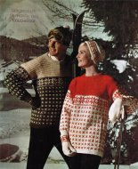 His & hers smart snowflake /ski jumpers, hat & mittens