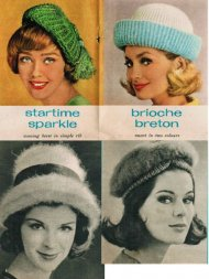 4 gorgeous stylish hats from the early 60's