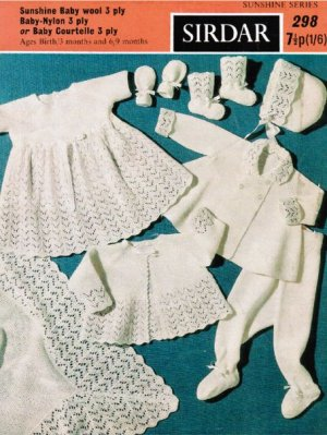 Gorgeous complete layette, shawl, dress coat