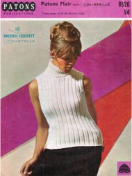 Mary Quant sleeveless ribbed polo neck top