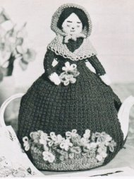 Flower seller Easter tea cosy