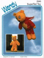 "Teddy toy. Caped ""Superted"" in DK"