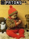 Baby boy striped jacket, hat & trousers