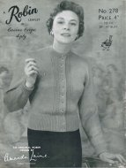 Classic 50's cardigan with small cable detail - up to 44""