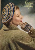 1950's fair isle beret & gloves