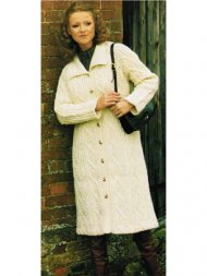 Luxurious aran coat with collar