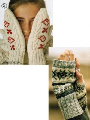 Fair isle mittens & wristwarmers - 2 designs