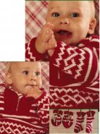 Baby boy simple fair isle jumper, socks & mitts set