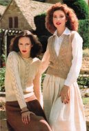 Lace pattern jumper and waistcoat style cardigan 40-50""