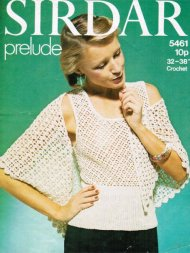 Pretty crochet summer or evening top & stole