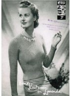 Classic war-time fitted ribbed jumper from the 40's