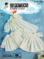 Stunning baby christening dresses & coat in 3 ply
