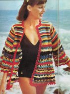 Multi stripe beach cover-up cardigan