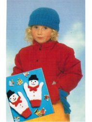 Children's snowman mittens + hat & gloves set
