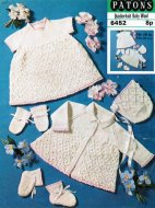 Pretty patterned baby dress & jacket outfit