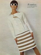 Courreges style skirt & jacket suit