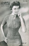 Lacy patterned jumper from the 1940's