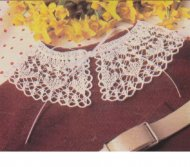 Sweet knitted lacy collar with crochet edging