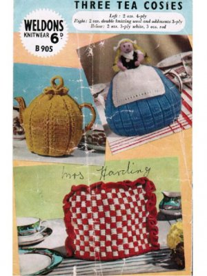 """Dutch doll"" tea cosy + 2 others"