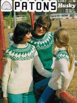 Family Nordic inspired fair isle jumpers
