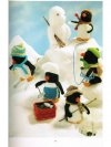 Penguin snow party toys knitting pattern