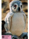Snowy owl toy knitting pattern