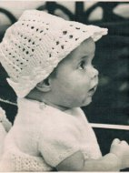 Adorable crochet baby sunhat