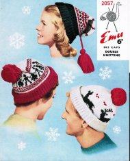 "Family fair isle reindeer patterned ""ski"" hats"