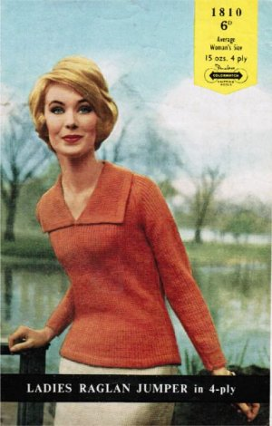Large collar simple jumper from the 60's